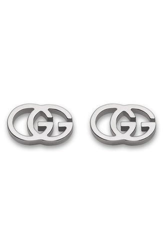 ad0234033 Gucci Women's 18Ct White Gold Double-G Stud Earring - Silver - Check ...