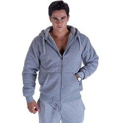 Lee Hanton Men's Solid Sherpa Lined Hoodies 4XL Light Grey 1685440