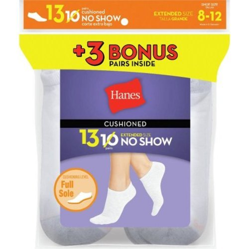 cd63344b3 Hanes Women s ComfortBlend Half Show Socks 10 Pack - White - Size 5 ...