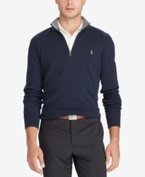 Polo Ralph Lauren Men's Luxury Jersey Pullover - Black - Size:L 1941661