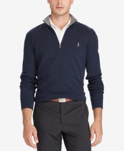 Black Polo Pullover