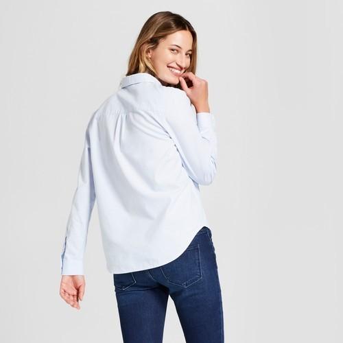 910788d9 Universal Thread Women's Camden Button Down Shirt - Blue - Size:XS ...