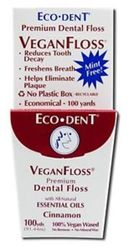 Eco-dent Premium Dental Floss Veganfloss, Cinnamon 100 Yards (pack Of 5)