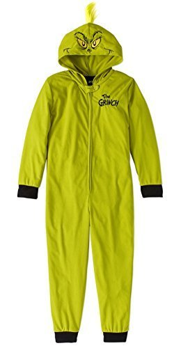 ea07ed86060e MJC Inc. Child Girls Dr. Seuss The Grinch Stole Christmas One Piece Hooded  Pajamas