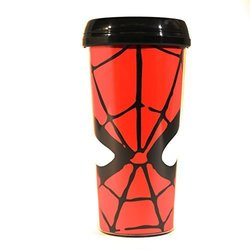 Silver Buffalo MC7087 Marvel Spider-Man Eyes Plastic Travel Mug, 16-Ounces 1948683
