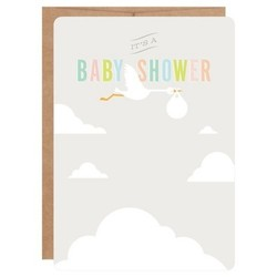 Inklings Paperie Stork Print-on Baby Shower Invitations