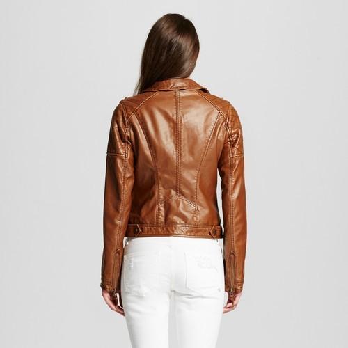 20d6ca964807a Xhilaration Women's Faux Leather Moto Jacket - Tan - Size:S - Check ...