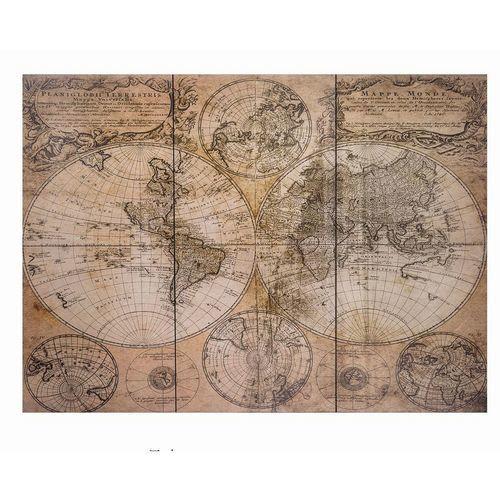 Piece Antique World Map Wall Art Canvas Picture Check Back Soon - 3 piece world map wall art