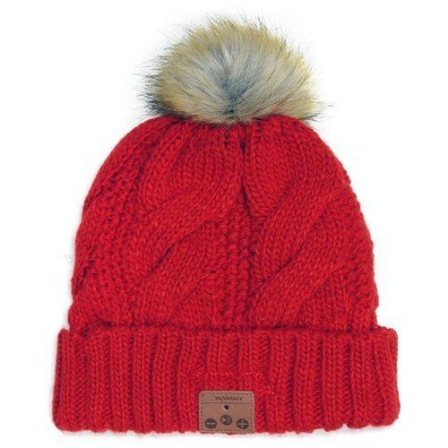 144c81ae00285 Tenergy Women s Bluetooth Beanie Hat w  Microphone - Red - Check ...