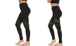 S2 Sportswear Women's High-Waist Workout Leggings - Black - Size:S 1923713
