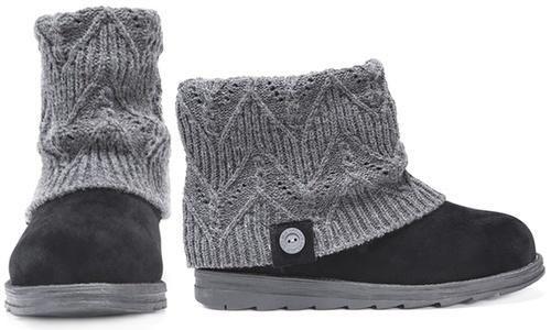 1b35fa439ffe ... Muk Luks Womens Water Resistant Patti Boots - Dark Gray Heather -  Size 9 ...
