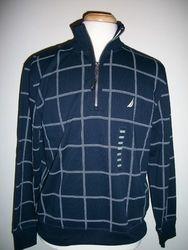 Nautica Men's Blue 1/4 Zip Long Sleeve Shirt - Navy - Size:M 1963134