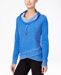 Calvin Klein Performance Space-Dyed Cowlneck Sweatshirt - Blue - Size: XXL 1960738