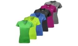 Under Armour Women's Tech V-Neck T-Shirt XL Carolina Blue 1969184