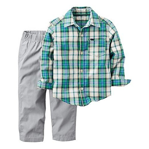 15a77a1d2 Carter's Baby Boys' 2-Piece Plaid Playwear Set - Green - Size:18M - Check  Back Soon - BLINQ