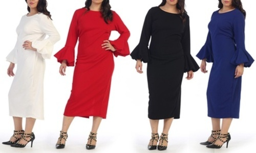 ae119055d9d Women s Bell Sleeve Dress - Blue - Size  16-18 - Check Back Soon - BLINQ