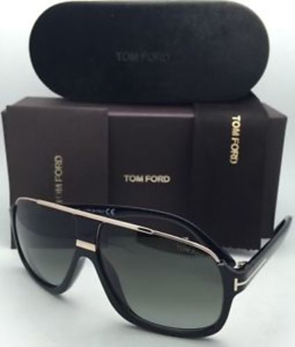 9305890437c New Tom Ford Sunglasses Men Aviator TF 335 Black 01P Eliott 60mm ...