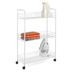 Honey-Can-Do 3-Tier White Laundry Cart (CRT-01149)