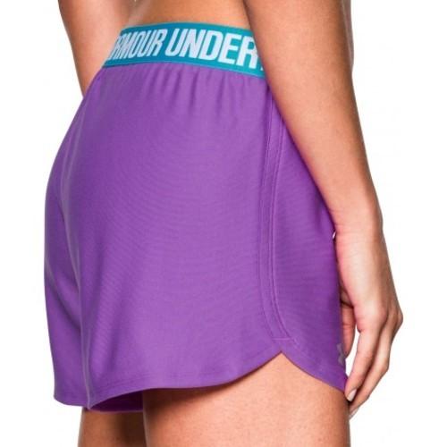 Under Armour Women s Heat Gear Loose Fit Shorts - Purple Blue - Size ... 1f96a8de35