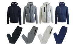Harvic Men's 2-Piece Fleece Hoodie & Jogger Set - Dark Grey - Size:2XL 1992461