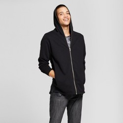 Men's Extended Full Zip Hoodie Sweatshirt - Jackson  Black M 1998659
