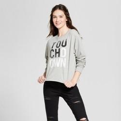 Modern Lux Junior Women's Long Sleeve Graphic T-Shirt - Gray - size:L 2041642