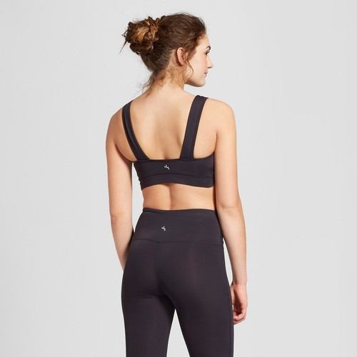 702c84bde JoyLab Women s Lightweight Scalloped Edge Sports Bra - Black - Size  ...