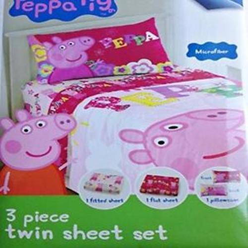 Peppa Pig 3 Piece Twin Bed Sheet Set Microfiber Comfort MYTODDLER New