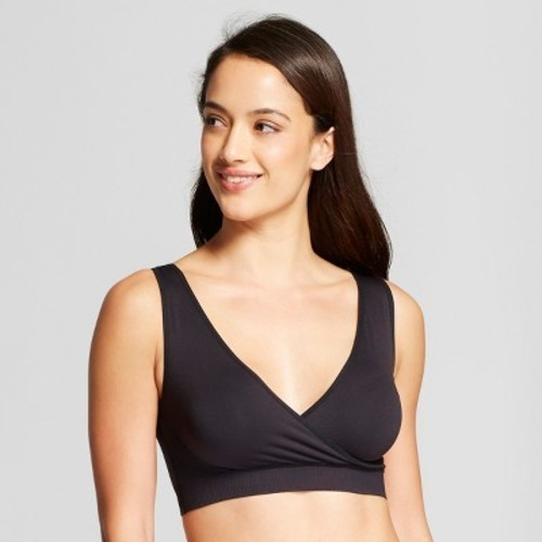 703b71f81 Maternity Seamless Crossover Sleep and Nursing Bra - Isabel Maternity by  Ingrid   Isabel Black S