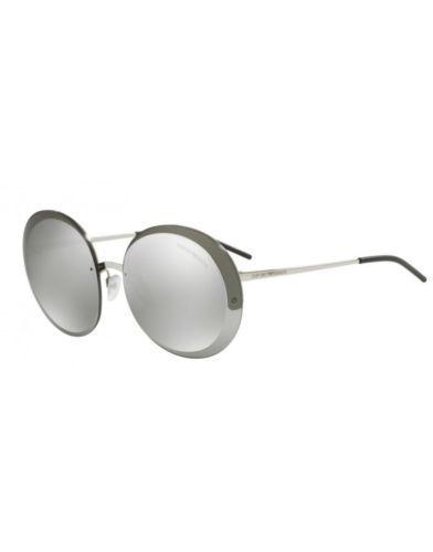 9df1d0f53a19 Emporio Armani Men's Sunglasses - Silver Frame/Gery Mirror Lens ...