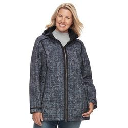 Free Country Women's Softshell Hooded Jacket - Black Space Die - Size:XXL