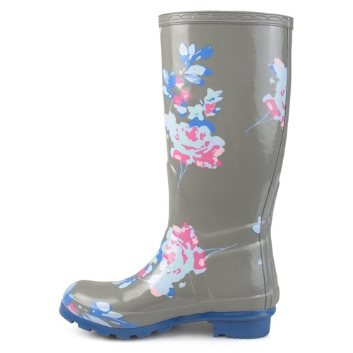 Journee Women's Patterned Rubber Rain Boots Gray Size60 BLINQ Inspiration Patterned Rain Boots