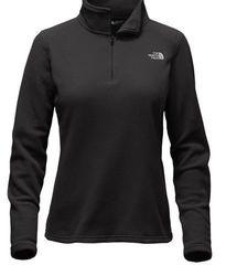 North Face Women's Glacier 1/4 Zip Pullover Jacket - Black - Size:M 2065120