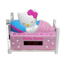 Hello Kitty Sleeping Kitty Alarm Clock Radio with Night Light - Multi 2069736