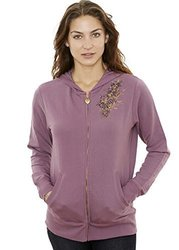 Jordacshe Zip up Women s Hoodie   Lilac - Ultra Soft, Comfortable and Cozy Hooded Cotton Sweatshirt - Large - by 2078091