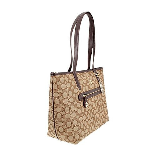 1ffcf7ff0d03 Coach Women s Signature Taylor Tote - Khaki Brown - Check Back Soon ...