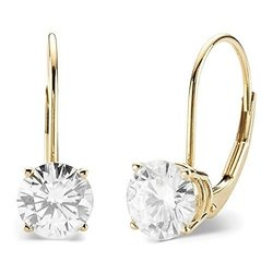 Charles & Colvard 14k 2ct Dew Forever Moissanite Earrings - Gold
