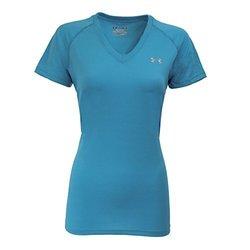 Under Armour Women's UA Tech V-Neck T-Shirt XS Aqua/Steel 2102098