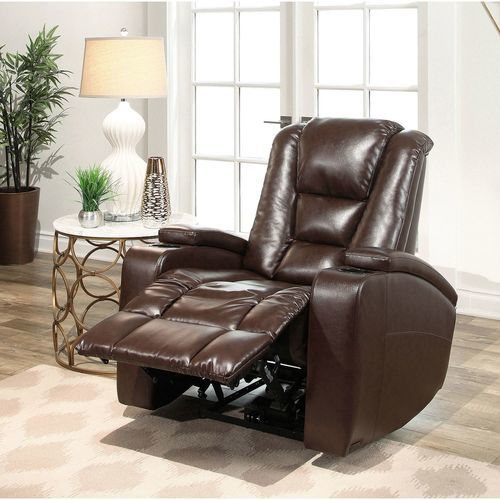 Abbyson Living Mastro Leather Power Reclining Home Theater