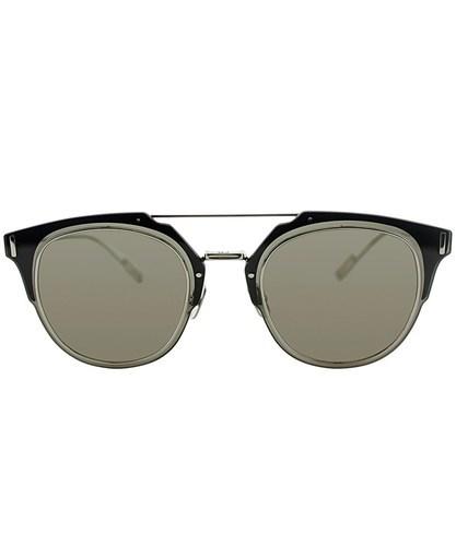 4632c8647f5c4 ... Dior Composit 1.0 010 2m Palladium Round Sunglasses - Brown Grey ...