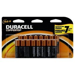 Duracell Coppertop Batteries - Alkaline - AA - 1.5 V - 16-Count