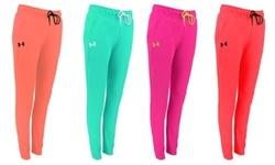Under Armour Women's UA Tech Fleece Pants XL Hot Pink High waist 2108875