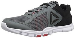 Reebok Men's Yourflex Train 9.0 MT Running Shoe, Alloy/Primal Red/Black/White, 9.5 M US 2122422