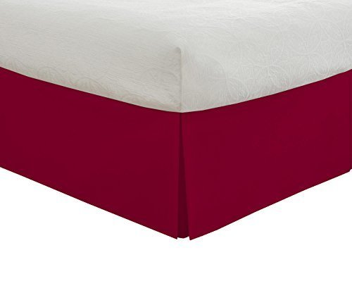 Lux Hotel Bedding Tailored Bed Skirt Clic 14 Drop Length Pleated Styling
