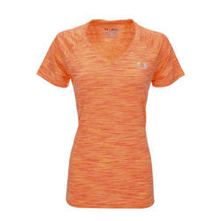 Under Armour Women's UA Tech V-Neck T-Shirt - Orange - Size: XS 2090511