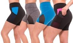 S2 Sportswear Womens Workout Activewear Shorts - Multi - Size: S 2134360