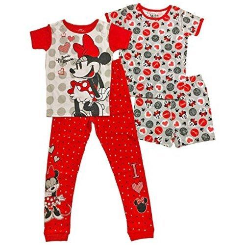 2d00de918fa7 AME Girls  4-Pc Disney Minnie Mouse Cotton Pajama Set - Multi - Size ...