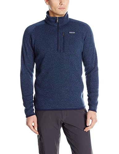 Patagonia Mens Better Sweater 14 Zip Classic Sweatshirt Navy