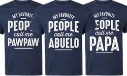 Men's Grandparent T-Shirt: 3XL/My Favorite People Call Me Grandpa 2160327