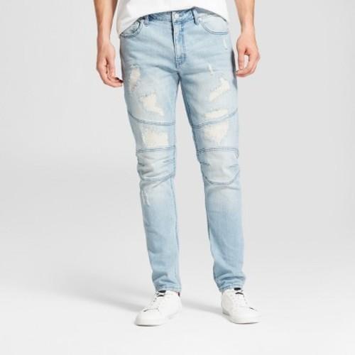 a8376148c0c6 Jackson Men's Skinny Rip & Repair Denim Pants - Light Indigo - Size:30 -  Check Back Soon - BLINQ